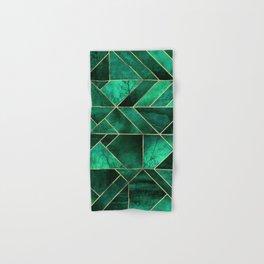 Abstract Nature - Emerald Green Hand & Bath Towel