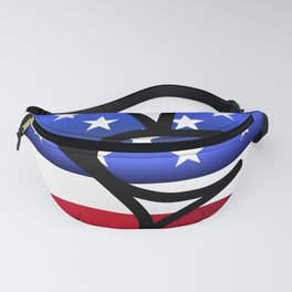 Peace Sign Hand with Flag Inlay Fanny Pack