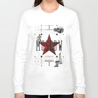 moscow Long Sleeve T-shirts featuring Moscow Mockba by Virbia