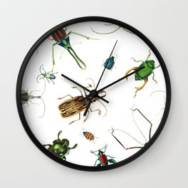 Bug Life - Beetles - Bugs - Insects - Colorful - Insect Pattern Wall Clock
