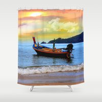 thailand Shower Curtains featuring  thailand by mark ashkenazi