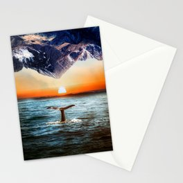 A whale and a morning Stationery Cards