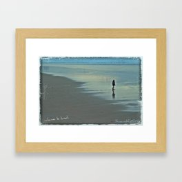 J´aime le lundi. Framed Art Print