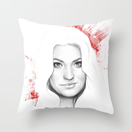 Debra and Blood Splatters Throw Pillow