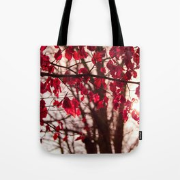 Red Leafs Tote Bag