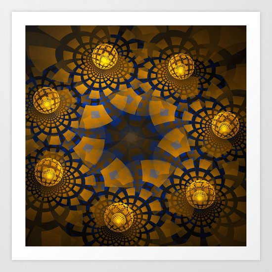 Magic Balls On A Tiled Floor Art Print By Thea Walstra