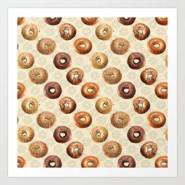 Bagels Art Print