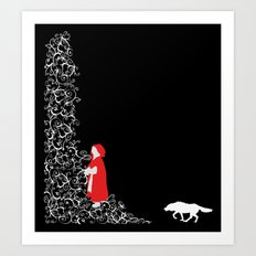 Little Red - Dark Art Print