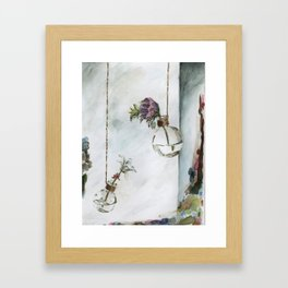 Intimacy (Oak Leaf Geranium, Saxifrage)   Framed Art Print