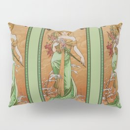 "Alphonse Mucha ""The Seasons (series): Spring"" (1900) Pillow Sham"