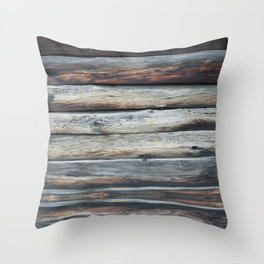 wood 2A Throw Pillow