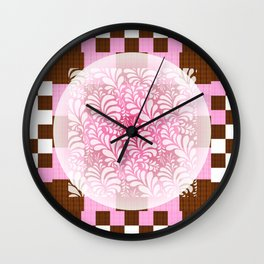 Sweet Ichimatsu Wall Clock