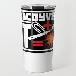 Paperclip Plus Spatula Equals Explosion Travel Mug