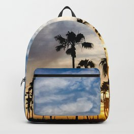 Palm Tree Love (blue and orange) Backpack