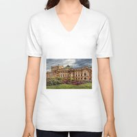 theatre V-neck T-shirts featuring Slowacki Theatre in Cracow by jbjart