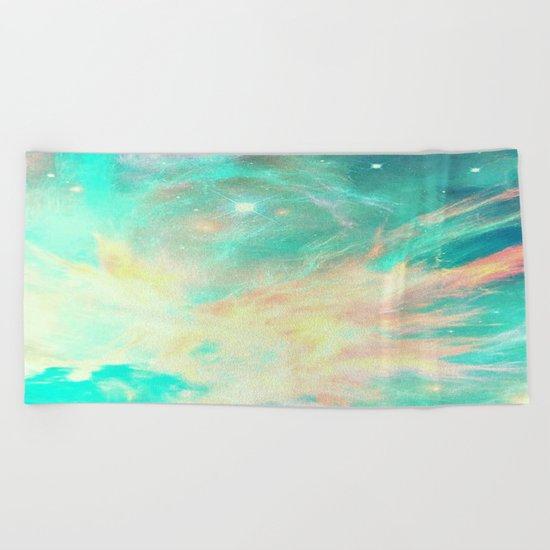 Earth phoenix Beach Towel