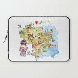 Brasil Map Laptop Sleeve