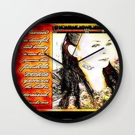 Virtuous Women 01: Candy 01 Wall Clock