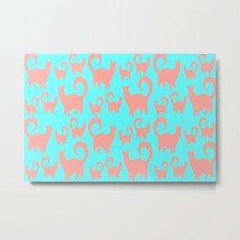 Pink Cats Metal Print