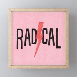 Totally Radical Framed Mini Art Print