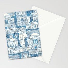 Washington DC toile blue Stationery Cards
