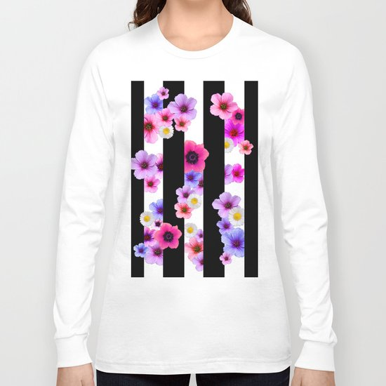 Flowers and Stripes 3 Long Sleeve T-shirt