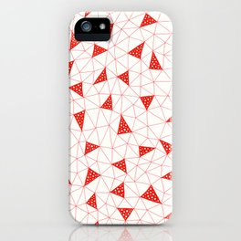 Red Tiangles iPhone Case