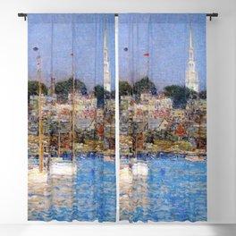 Newport Harbor, Newport, Rhode Island - Cat Boats by Frederick Childe Hassam Blackout Curtain