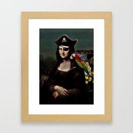 Mona Lisa Pirate Captain Framed Art Print