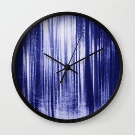 Indigo Woods Wall Clock
