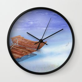 Perfect reflection of beautiful sky | Miharu Shirahata Wall Clock