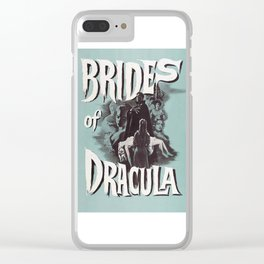 Brides of Dracula, vintage horror movie poster Clear iPhone Case