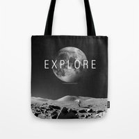 explore Tote Bags featuring EXPLORE by openact