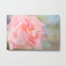 Pink Ethereal Rose Metal Print