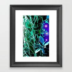 Forest Lights Framed Art Print