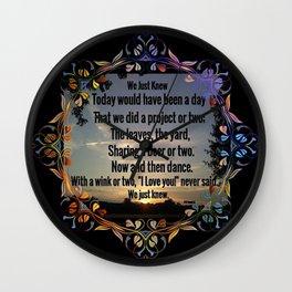 """Love Remembered"" Wall Clock"