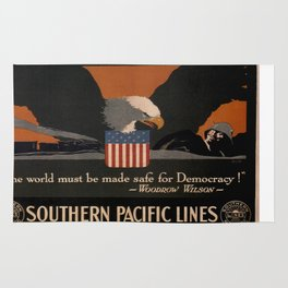 Vintage poster - Southern Pacific Rug