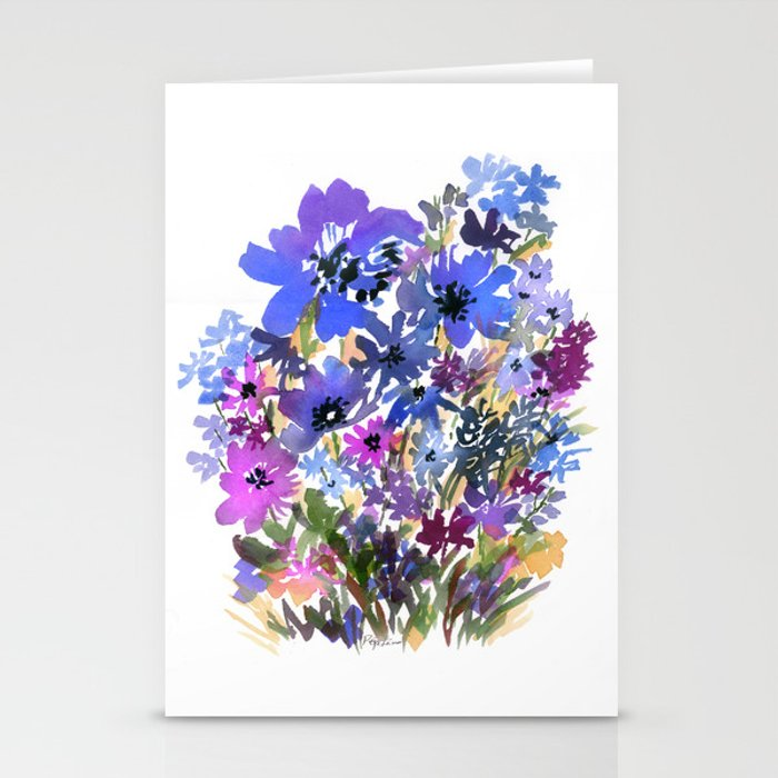 Heavenly Blues and Purples Stationery Cards
