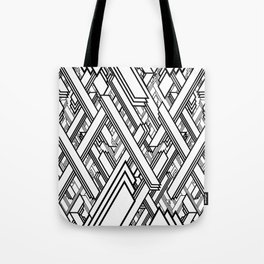 Layered Lines Tote Bag