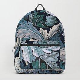 Art Nouveau William Morris Blue Acanthus Leaves Backpack