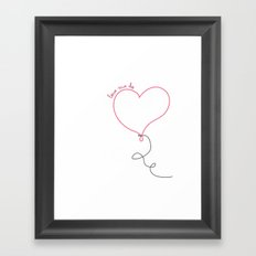 Love Me Do Framed Art Print