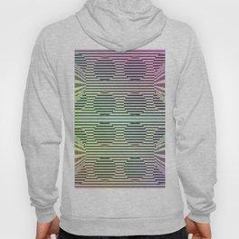 Deformed dots rainbow pattern Hoody