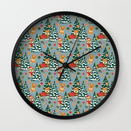 Merry Corgmess Wall Clock