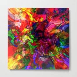 Abstract digital pour Metal Print