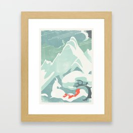 SlumberBean Snow Framed Art Print
