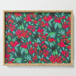 Christmas Red Berries Serving Tray