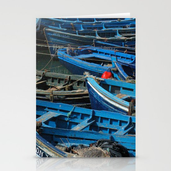 Blue Boats Stationery Cards