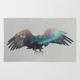 Eagle In The Aurora Borealis Rug