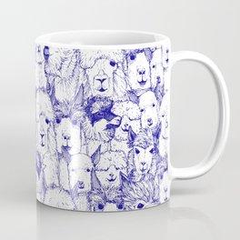 just alpacas blue white Coffee Mug