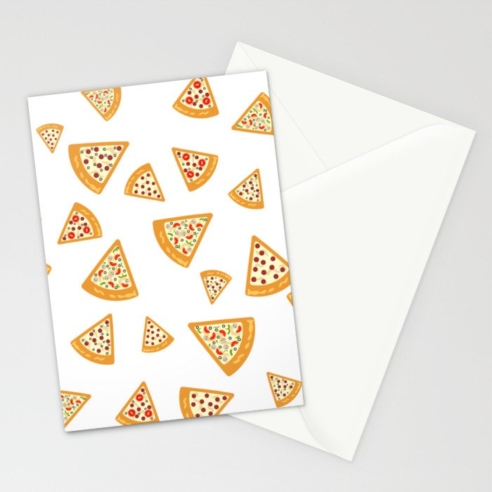 Pizza Crazy Stationery Cards